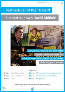 2013 David Abbink Best Teacher