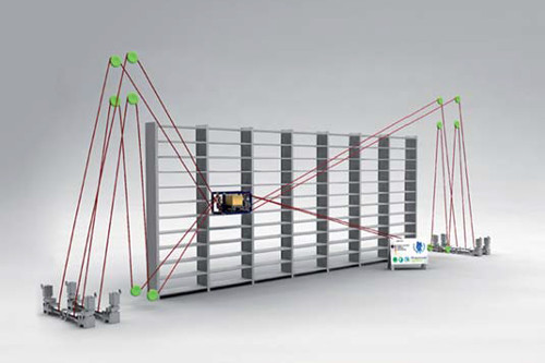 The University of Duisburg-Essen has extensive experience with cable-driven robots, such as this cable-driven high rack storage (source: https://www.pc-control.net/pdf/042013/solutions/pcc_0413_uni-duisburg_e.pdf)