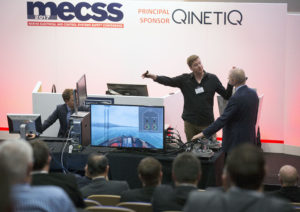 David and Roy giving a live demo of the haptic simulator. Credits - David Cheskin Photography